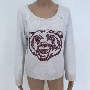 Free people sweatshirt with bear graphic